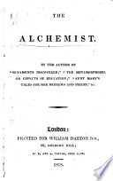 The Alchemist A Tale For Children By The Author Of Ornaments Discovered I E Mary Robson Afterwards Hughes Etc