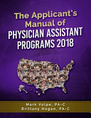 The Applicant s Manual of Physician Assistant Programs