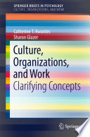 Culture Organizations And Work