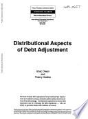 Distributional Aspects of Debt Adjustment