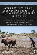 Agricultural Adaptation To Climate Change In Africa : on crop yields in africa. the purpose...