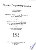 Chemical Engineering Catalog