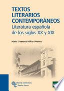 Textos Literarios Contempor  neos