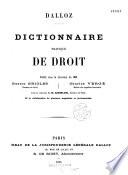Dalloz. Dictionnaire pratique de droit