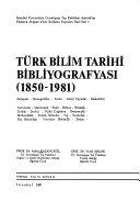 Türk bilim tarihi bibliyografyası, 1850-1981
