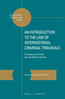 An Introduction to the Law of International Criminal Tribunals