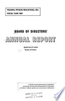 Annual Report - Federal Prison Industries, Inc