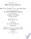 Allgemeine encyklopädie der wissenschaften und künste