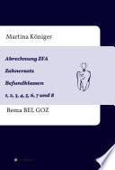 Abrechnung ZFA Zahnersatz Befundklassen 1 bis 8