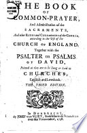 The Book Of Common Prayer According To The Vse Of The Church Of England