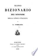 Nuovo Dizionario de sinonimi della lingua italiana