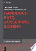 Handbuch Satz    u  erung  Schema