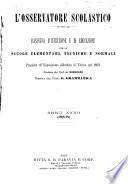 L osservatore scolastico Giornale d istruzione e d educazione premiato all Esposizione Didattica di Torino  1869