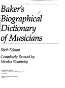 Baker's Biographical Dictionary of Musicians