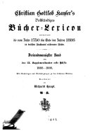 Vollst  ndiges B  cher Lexicon enthaltend alle von 1750 bis zu Ende des Jahres 1832   1910  in Deutschland und in den angrenzenden L  ndern gedruckten B  cher