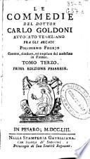 Le commedie del Dottor Carlo Goldoni ...