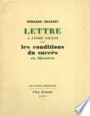 Lettre à André Gillon sur les conditions du succès en libriairie