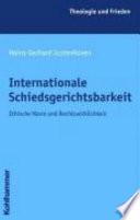 Internationale Schiedsgerichtsbarkeit