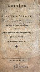 download ebook catalog der neuesten bücher welche vom ... erschienen und in der joseph lindauer\'schen buchhandlung (e.t.fr. sauer) ... zu haben sind pdf epub