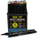Studio Series Dual Tip Alcohol Markers  Set of 24