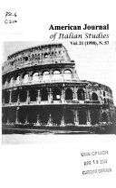 American Journal of Italian Studies