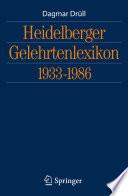 Heidelberger Gelehrtenlexikon 1933-1986