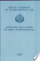 Hague Yearbook of International Law: Vol. 10:1997