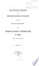 Handelingen der jaarlijksche vergadering van de Maatschappij der Nederlandsche Letterkunde te Leyden