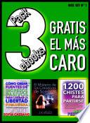 Pack 3 ebooks  Gratis el m  s caro