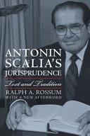 Book Antonin Scalia s Jurisprudence