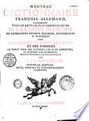 Dictionnaire (nouveau) françois-allemand
