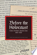 Before the Holocaust
