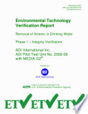 Removal of Arsenic in Drinking Water Phase 1 Integrity Verification