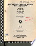 Impact of Motorcycle Helmet Usage in Oklahoma: Research report