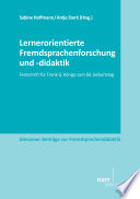 Lernerorientierte Fremdsprachenforschung und  didaktik