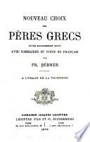 Nouveau choix des pères grecs