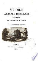Sui colli albani e tusculani