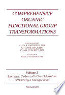 Comprehensive Organic Functional Group Transformations: Synthesis: carbon with one heteroatom attached by a single bond