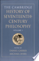 The Cambridge History of Seventeenth century Philosophy