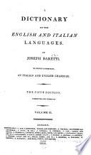 Dizionario delle lingue italiana ed inglese  English and Italian