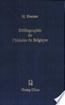 Bibliographie de l'histoire de Belgique