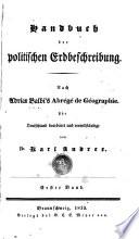 Handbuch der politischen Erdbeschreibung