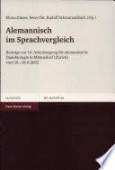 Alemannisch im Sprachvergleich