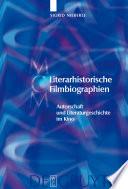 Literarhistorische Filmbiographien