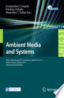 Ambient Media and Systems