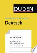 bungsbl  tter Rechtschreibung zur Duden Schulgrammatik extra   Deutsch