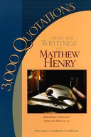3,000 Quotations from the Writings of Matthew Henry