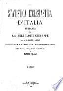 Statistica ecclesiastica d Italia