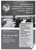 Proceedings of the 1st International Conference on Quantitative  Social  Biomedical   Economic Issues 2017
