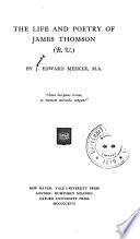 The Life and Poetry of James Thomson  B V   Book PDF